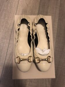 Burberry Ivory Heritage leather shoes - size 36.5