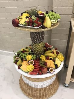 Two layer fruit platter catering