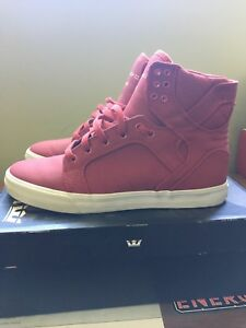 Supra Skytop Red/White - Size 9.5 - Worn Lightly