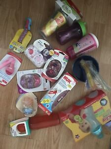 Brand new soothers, sother clips, bottles and suppi cups  $15