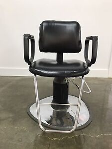 Salon styling chairs and shampoo chairs