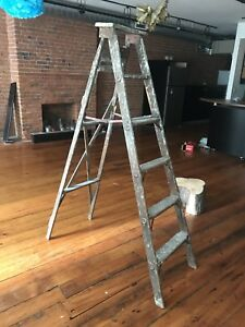 Vintage Free-Standing Ladder / Tree Stump