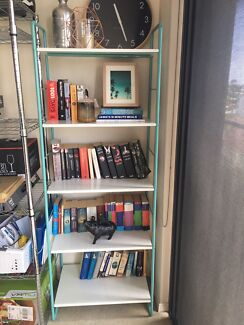Freedom Teal White Bookcase