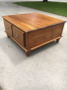 Solid wood 4-drawer coffee table