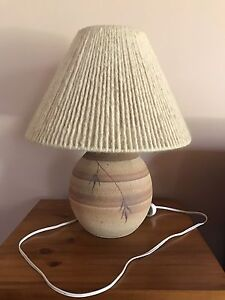 Pottery lamp base with woolen lampshade Blaxlands Ridge Hawkesbury Area Preview