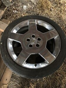 """18"""" cobalt ss rims and tires, low tread on tires $300 OBO"""