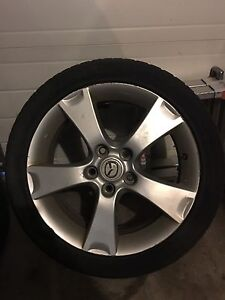 "17"" Mazda 3 rims and tires"