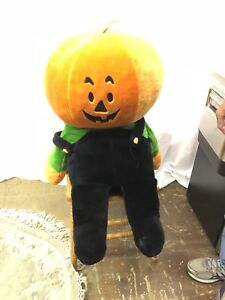 Large stuffed pumpkin toy animal McDonalds logo