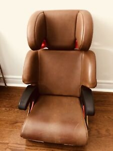 Clek Oobr brown premium leather booster seat.