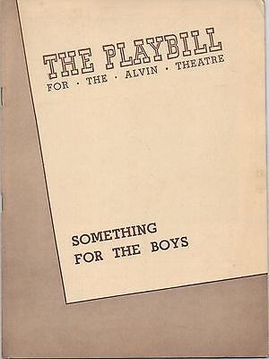 1943 Playbill 'Something For The Boys' Ethel Merman