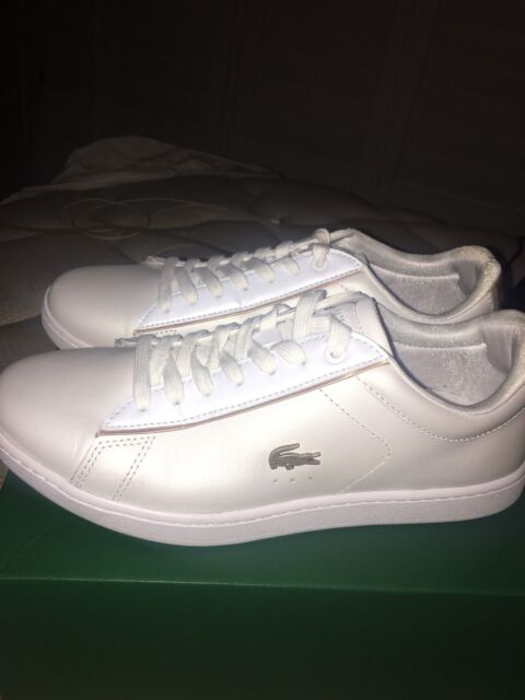 682f066ff120a LACOSTE CARNABY EVO 118 6 WHITE GOLD LEATHER