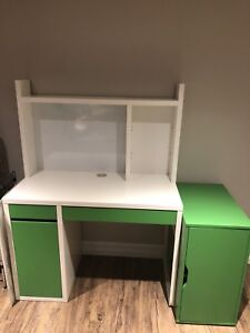 Kids desk and cabinet