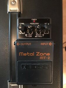 Distortion pedal Boss MT-2 metal zone