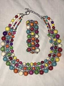 Hand crafted necklace and bracelet set.