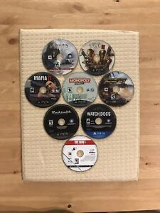 Lot of 8 PS3 Games incl Assassin's Creed, MotorStorm, Watchdogs