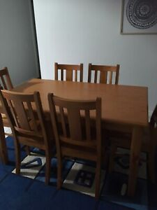 Wanted: Timber table & 6 chairs