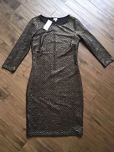 Black and gold dress size M