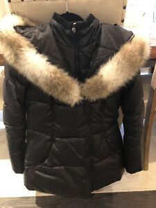 Down Winter Jacket Ladies M Black Laundry By Shelli Segull