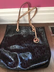 MK black and gold tote