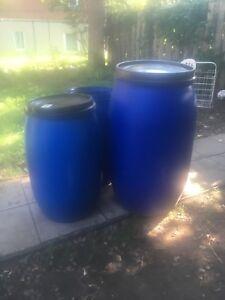Baril de 30 galons avec couvercle / barrel open top