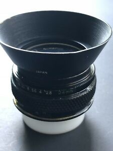 Nikon mount super sharp 24mm f2.8 (converted) lens