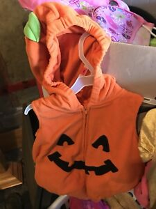 12 M pumpkin costume