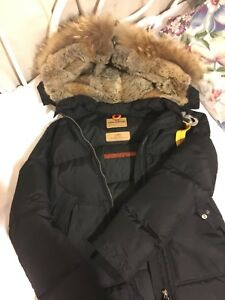 Women's Black Parajumper Jacket Long Bear XS