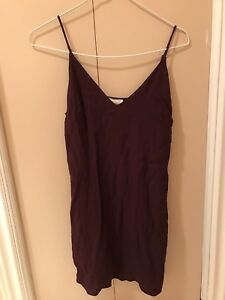 Aritzia Wilfred free purple cami dress