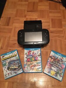 Nintendo wii with mario 3d smash and mario kart