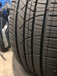 4 pneus d'ete 205 55 16 ( une saison d'usure) presque neuf