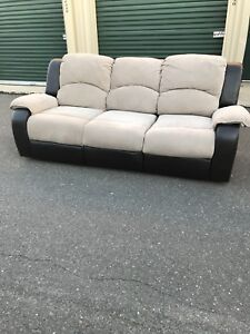 Excellent condition suede leather couch