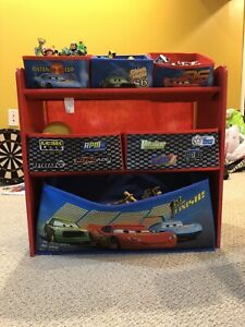 Cars Themed Toy Storage with Toys