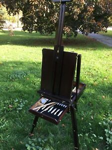 Professional Portable Art Easel with Quality Paints and Brushes
