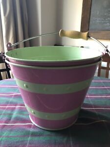 Two (2) Pottery Barn Galvanized Metal Buckets