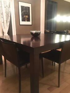UpCountry Square Solid Wood Dining Table with 8 Chairs