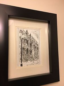 Picture frame drawings of beautiful Montreal