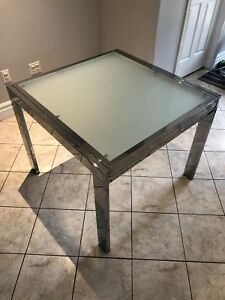 Extendable Glass Kitchen Table