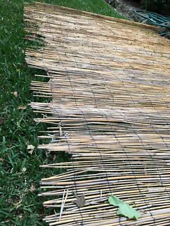 """Two 1.5m x 2.6m """"Reed"""" fence screening"""