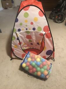 Tent and balls