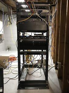 27u Server/Networking rack adjustable depth