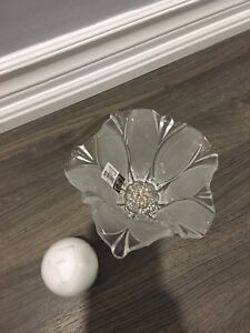 BRAND NEW in box MIKASA glass candle holder