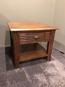 Timber lamp table Golden Bay Rockingham Area Preview