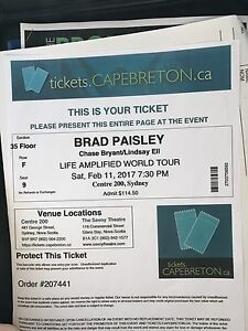 Floors Brad Paisley ticket (1)