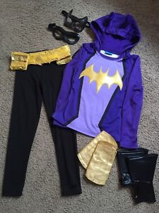 7pc Batgirl Costume with Wings and Batears Sz6X