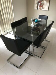 As New - 6 seater dining table and chairs - Urgent Sale Mount Annan Camden Area Preview