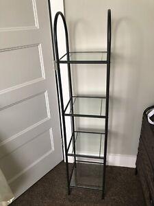 Glass 4 tier shelf