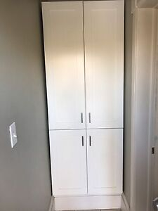 White pantry unit -- must be picked up Mon Jan 16