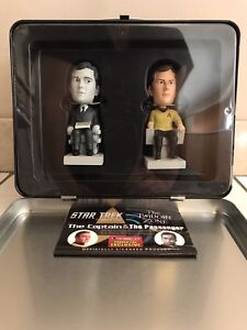 STAR TREK & THE TWILIGHT ZONE COLLECTIBLE TIN TOTE & BOBBLEHEADS