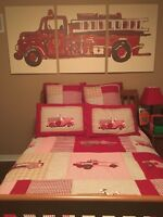 Fire truck twin pottery barn bedding