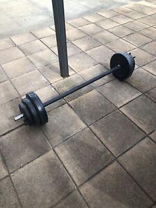 Weight barbell set